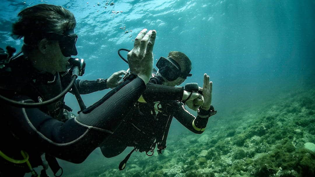 Diver doing an Adventure Course in Malta